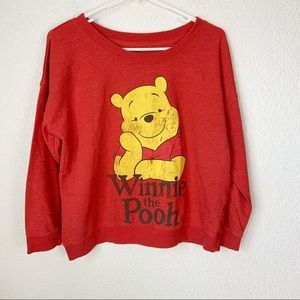 Winnie the Pooh Long Sleeve Red Shirt Large